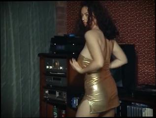 big tit brunette strip dance