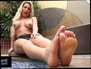 Blondes with big tits and sexy feet Sexy Blonde Shemale Raphaella Vasconcelos Show Off Feet Tubator